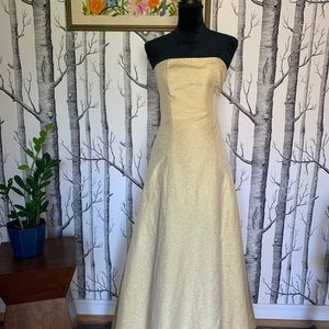 Vintage McClintock Gunne Sax Gold Tulle Party Gown